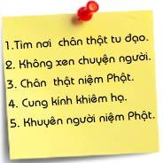 Năm Điều Quan Trọng Người Niệm Phật Cần Nên Làm